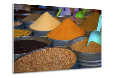 Spices, Fez, Morocco, North Africa, Africa-Neil Farrin-Metal Print