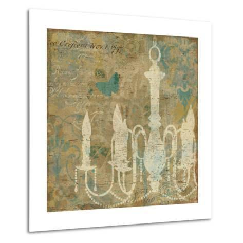 Faded Ornate II Aqua-Pela Design-Metal Print