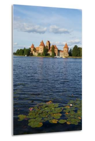Island Castle of Trakai Near Vilnius, Lithuania, Europe-Bruno Morandi-Metal Print