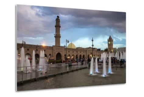 Shar Park, Clock Tower and Qaysari Bazaars, Erbil, Kurdistan, Iraq, Middle East-Jane Sweeney-Metal Print