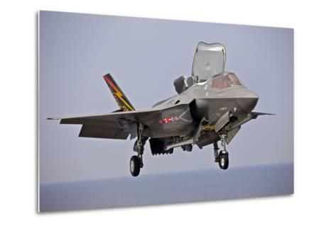 An F-35 Lightning Ii Prepares for Landing--Metal Print