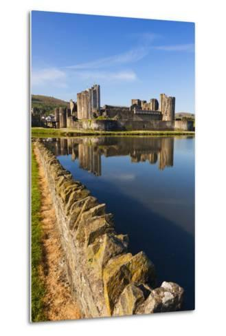 Caerphilly Castle, Gwent, Wales, United Kingdom, Europe-Billy Stock-Metal Print