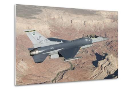 F-16C Fighting Falcon Flying over the Grand Canyon, Arizona--Metal Print
