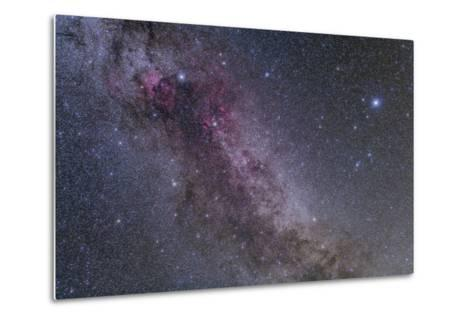 Constellations Cygnus and Lyra with Nearby Deep Sky Objects--Metal Print