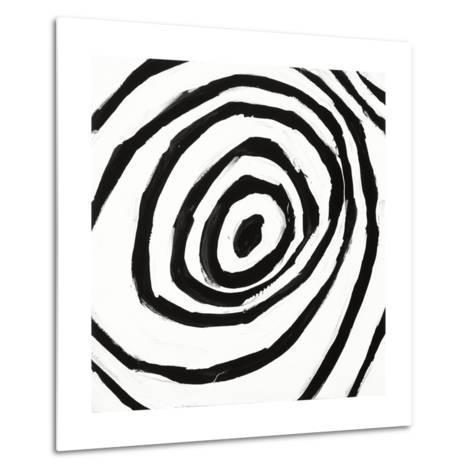 Black and White L-Franka Palek-Metal Print