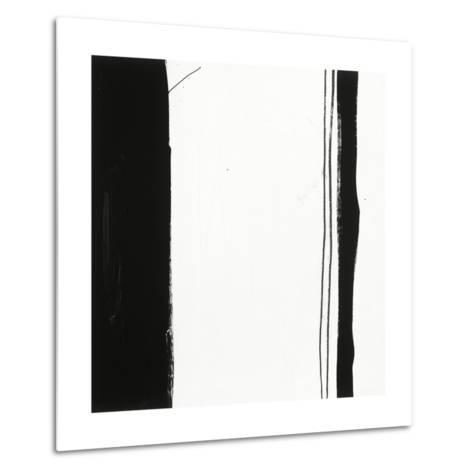 Black and White G-Franka Palek-Metal Print
