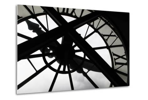 Clock at Musee D'Orsay, Paris, France-Kymri Wilt-Metal Print