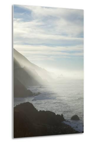 Early Morning Fog Lifts Off the Pacific Ocean Along the Big Sur Coastline-Macduff Everton-Metal Print