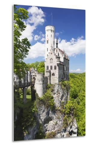 Lichtenstein Castle in Spring, Swabian Alb, Baden Wurttemberg, Germany, Europe-Markus Lange-Metal Print