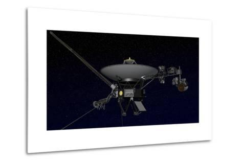 Artist's Concept of One of the Twin Voyager Spacecraft--Metal Print