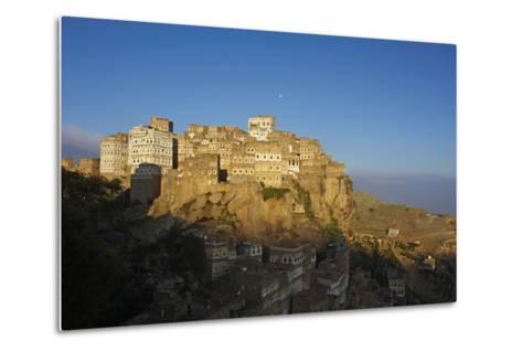 Al Hajjarah Village, Djebel Haraz, Yemen, Middle East-Bruno Morandi-Metal Print