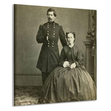 Major General George B. Mcclellan and His Wife- E. & H.T. Anthony-Metal Print