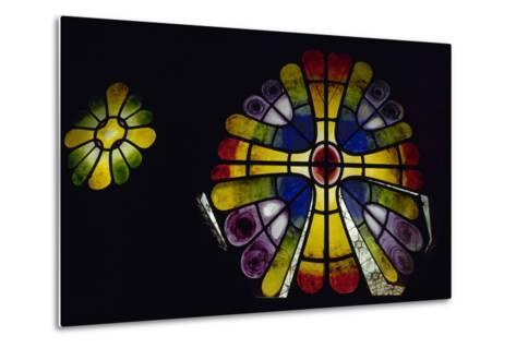 Stained Glass Window. 19th Century. Crypt of the Colonia Guell by Antonio Gaudi (1852-1926). Spain-Antonio Gaudi-Metal Print