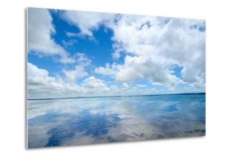 Soft Wave of the Sea on the Sandy Beach-idizimage-Metal Print
