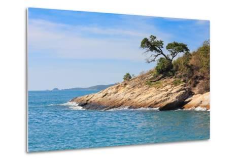 Beach and Tropical Sea-Ronnachai-Metal Print