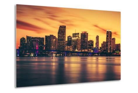 City of Miami at Sunset-prochasson-Metal Print