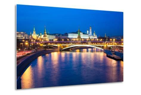 Dusk View of the Moscow Kremlin-Elena Ermakova-Metal Print