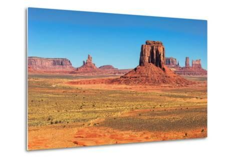 Monument Valley West and East Mittens Butte Utah National Park-lucky-photographer-Metal Print