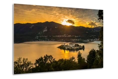 San Giulio Island Sunset Hdr Version-Robik70-Metal Print