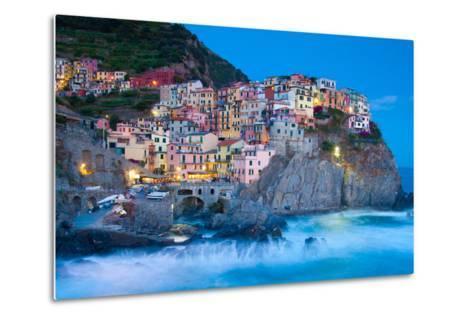 Manarola Fisherman Village in Cinque Terre, Italy-kasto-Metal Print