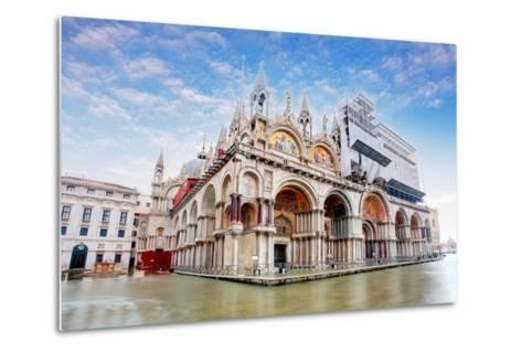 Basilica Di San Marco under Interesting Clouds, Venice, Italy-TTstudio-Metal Print