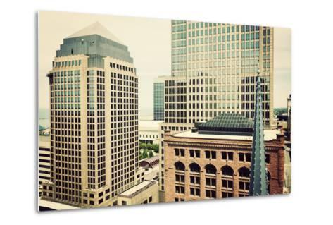 Downtown Cleveland-benkrut-Metal Print