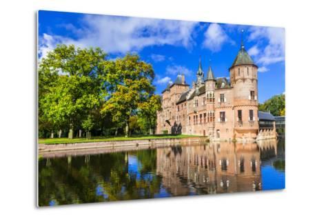 Beautiful De Haar Castle, Holland-Maugli-l-Metal Print
