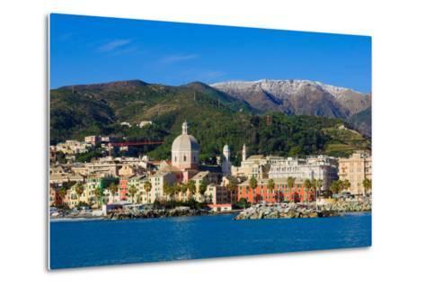 Genoa from the Sea-RnDmS-Metal Print