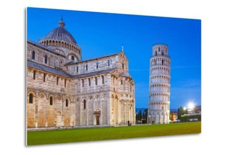 Pisa, Italy. Catherdral and the Leaning Tower of Pisa at Piazza Dei Miracoli.-Patryk Kosmider-Metal Print