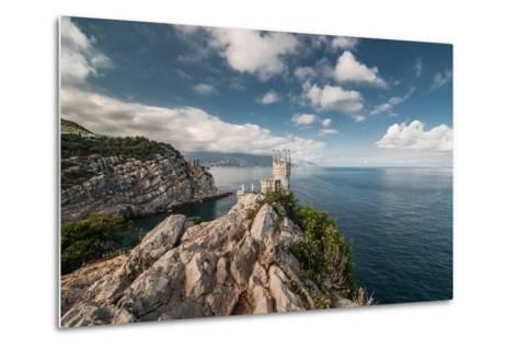 Decorative Swallow's Nest Castle Overlooking the Black Sea.-Yury Dmitrienko-Metal Print