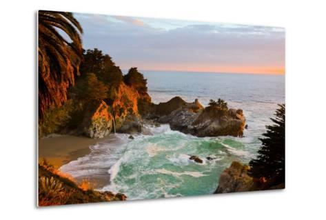 Mcway Falls in Big Sur at Sunset, California-Andy777-Metal Print