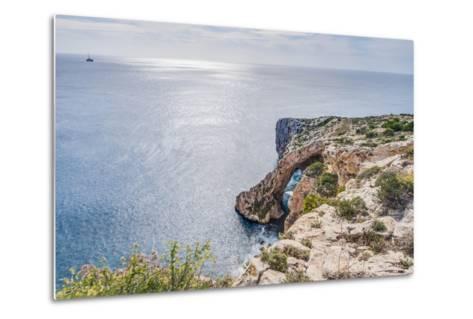 Blue Grotto on the Southern Coast of Malta.-Anibal Trejo-Metal Print