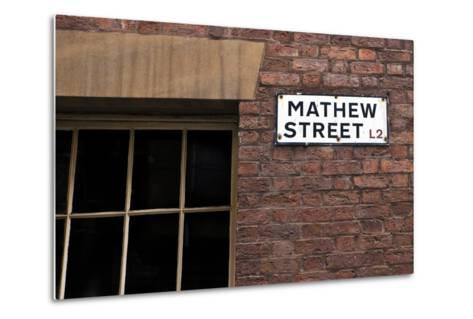 Mathew Street Sign in Liverpool-chrisd2105-Metal Print