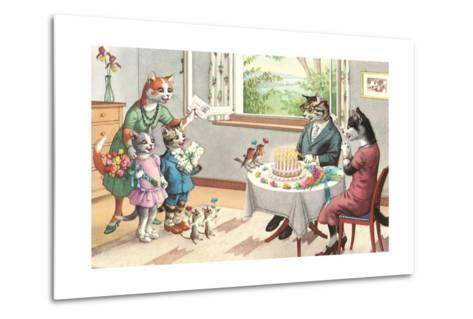 Crazy Cats Birthday Party--Metal Print