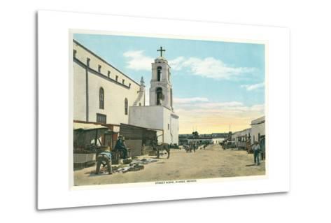 Street Scene, Early Juarez, Mexico--Metal Print