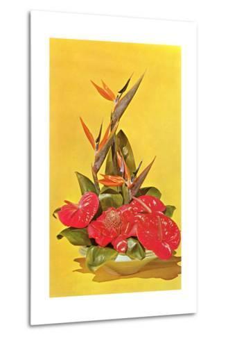Flower Arrangement--Metal Print