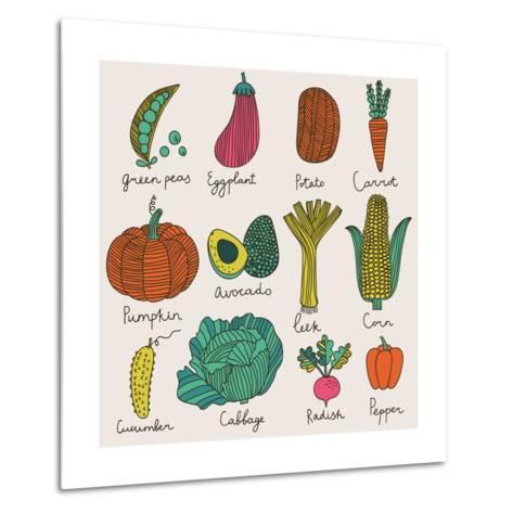 Tasty Vegetables-smilewithjul-Metal Print