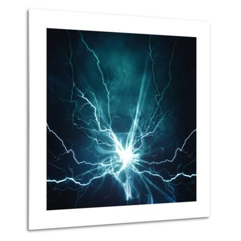 Electric Lighting Effect-dtolokonov-Metal Print