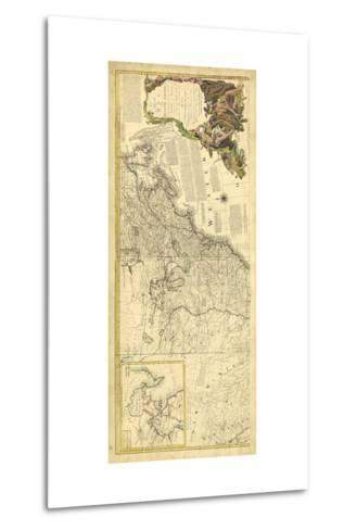 Antique Map of America IV--Metal Print