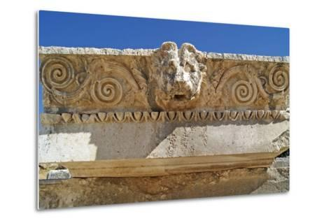 Head of a Lion, Letoon, Turkey--Metal Print
