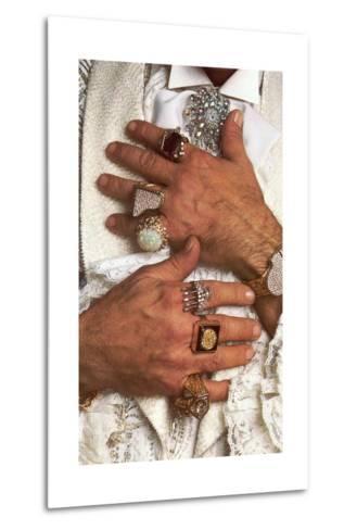 Too Many Big Rings--Metal Print