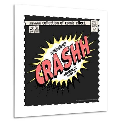Comic Book Words Effect-studiohome-Metal Print