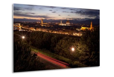 A View of Florence from Piazzale Michelangelo at Dusk-Tino Soriano-Metal Print