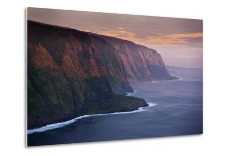The Cliffs Above Waipi'O Bay at Sunrise-Chris Bickford-Metal Print