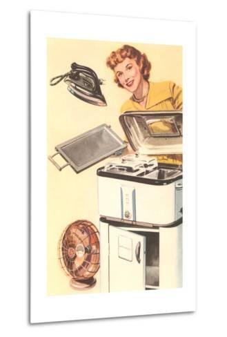 Housewife and Appliances--Metal Print