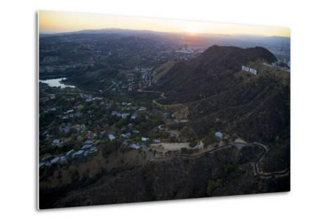 The Hollywood Sign and Griffith Park in Los Angeles-Steve Winter-Metal Print