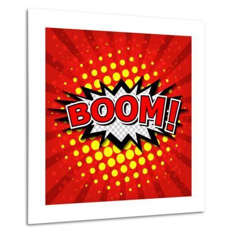 Boom! Comic Speech Bubble-jirawatp-Metal Print
