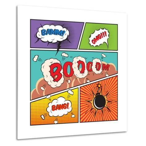 Comic Speech Bubbles-Macrovector-Metal Print