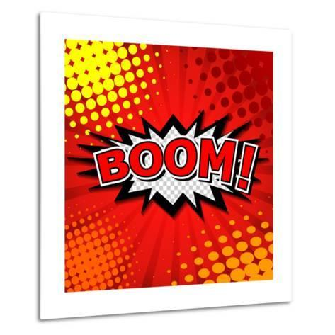 Boom! Comic Speech Bubble, Cartoon-jirawatp-Metal Print