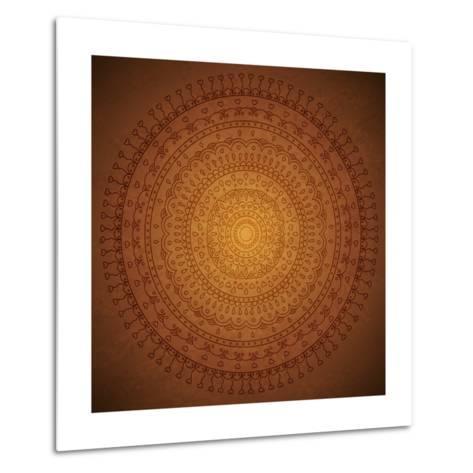 Vintage Mandala Ornament Background-siminitzki-Metal Print